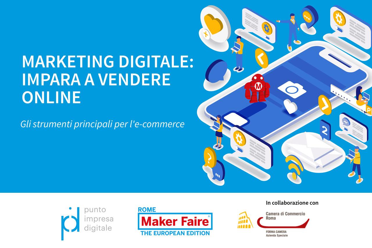 banner ciclo di webinar Marketing digitale: impara a vendere online
