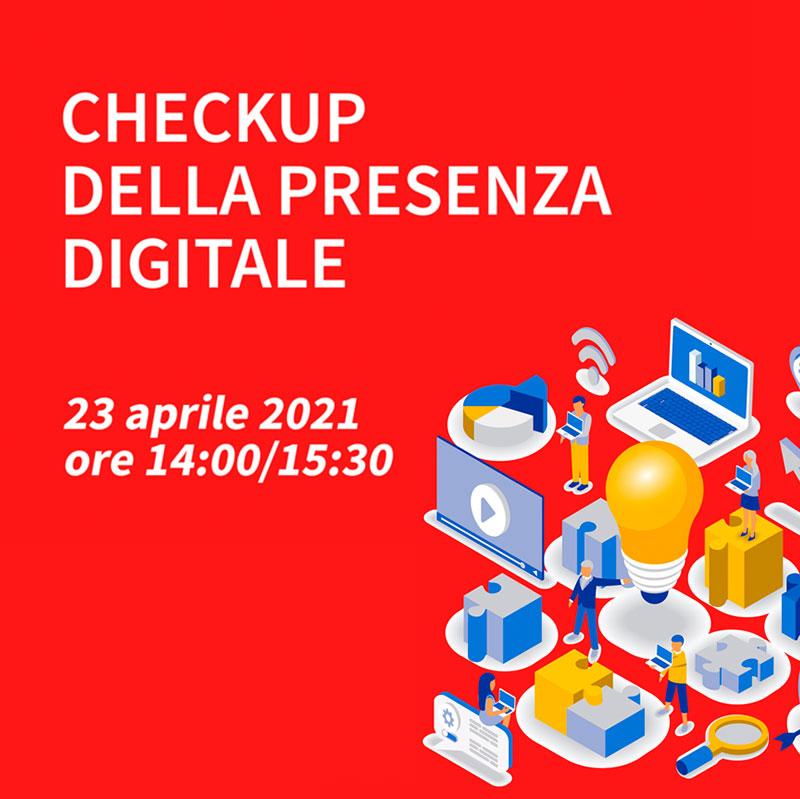 banner webinar checkup della presenza digitale 23 aprile 2021