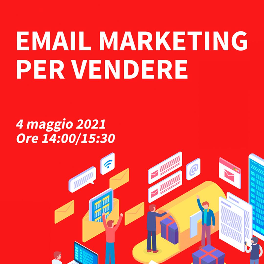 banner webinar Email marketing per vendere 4 maggio 2021