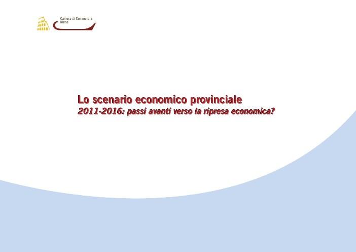 Lo scenario economico provinciale 2011_2016