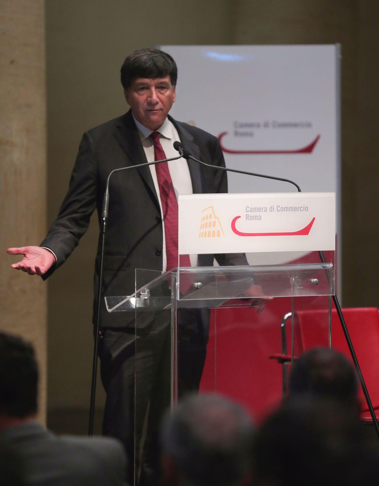 Il Presidente tagliavanti alla presentazione della ricerca Roma 2030