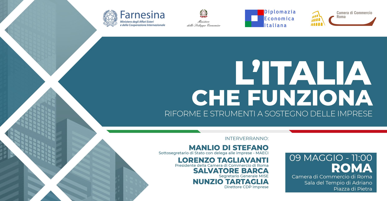 bd5bf7ad39 L'Italia che funziona - Riforme e strumenti a sostegno delle imprese. Home  Page - Camera di Commercio di Roma ...