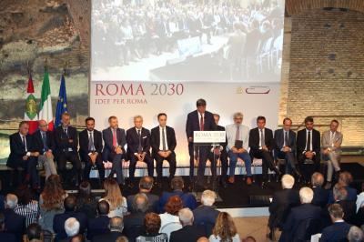 Convegno Roma 2030, il palco