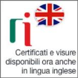 Certificati e visure in inglese